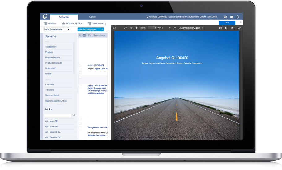 appero Preview Angebotsmanagement
